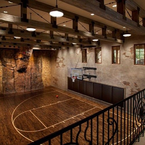 Indoor basketball court Man Caves Pinterest Home, House and