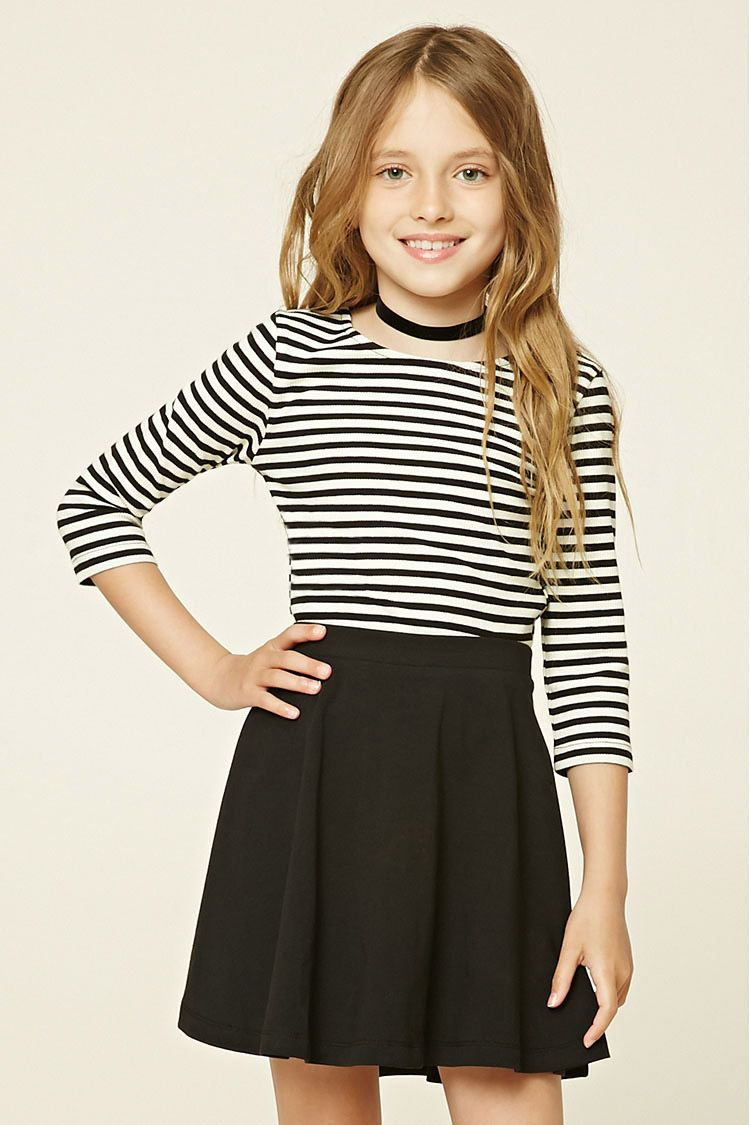 Girls Striped Knit Tee (Kids) | fashion ☆ | Pinterest | Rock