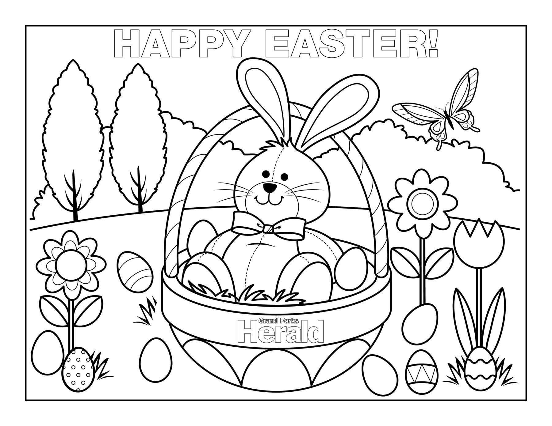 easter coloring pages Easter bunny colouring, Bunny