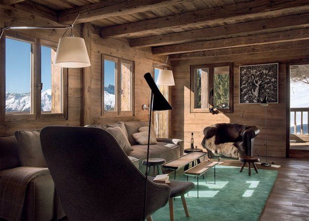 Idee deco sejour salon decoration interieur moderne chalet