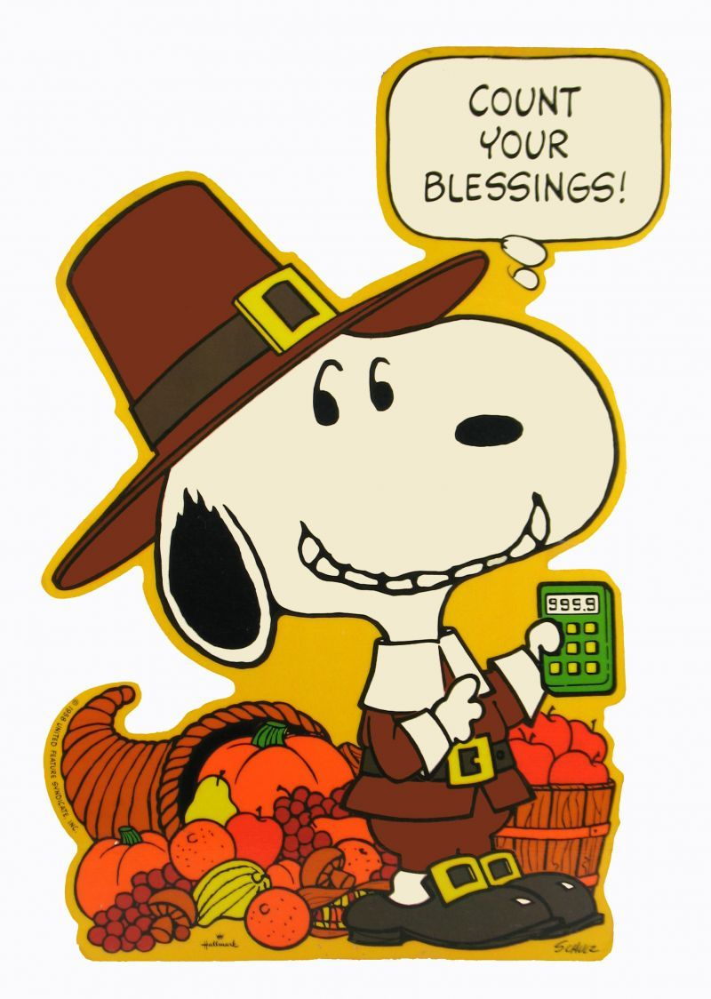 Count Your Blessings, Snoopy. | Fall Frenzy | Pinterest