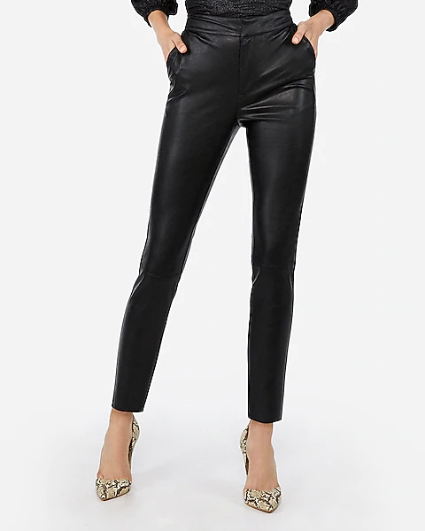 Negin Mirsalehi Vegan Leather Ankle Pant Express Pants For Women Negin Mirsalehi Ankle Pants