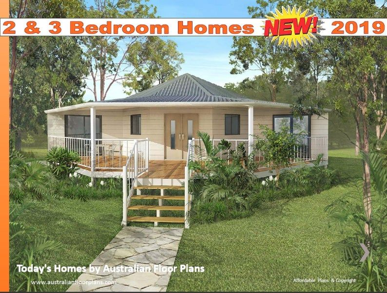 2 And 3 Bedroom House Plan Design Book Tiny House Plans Etsy House Plans Australia Tiny House Plans House Plans For Sale