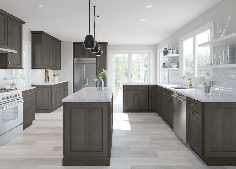 Providence Natural Grey Shaker Pre-Assembled Kitchen ...