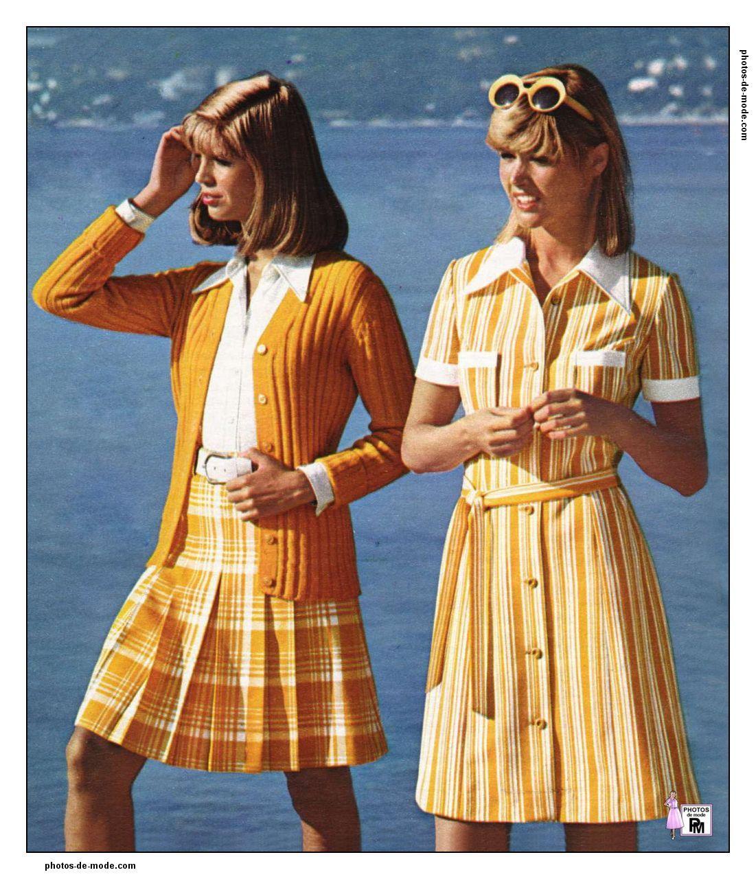 ann es 70 1973 vintage dress 70 39 s mode ann e 70. Black Bedroom Furniture Sets. Home Design Ideas