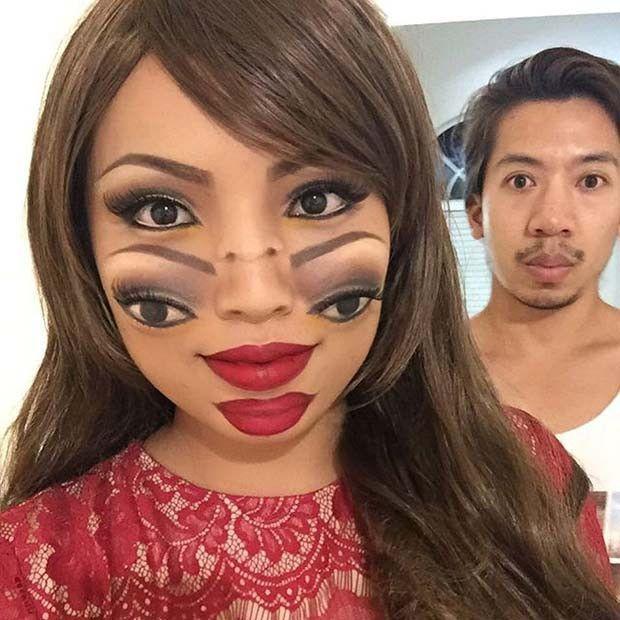 23 Trippy Illusion Makeup Sucht nach Halloween
