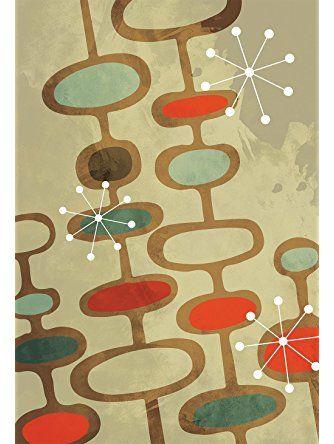 Mid Century Modern Print Pattern Abstract Art Print Poster Giclee on ...