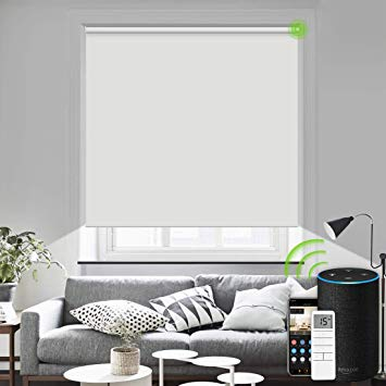Amazon Com Motorized Blinds Remote Control Window Roller Shade Wireless Rechargeable 100 Blackout Window Shades For Of Window Shades Home Decor Roller Shades