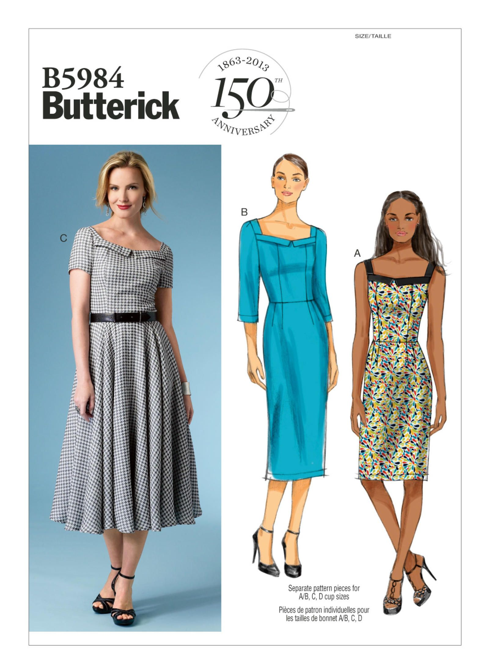 B5984 | Butterick Patterns | Custom Cup Sizes | Sewing Patterns ...