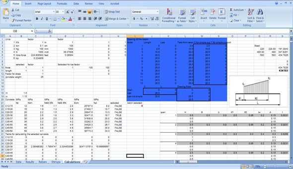 The Beam Express And The Beam Express Pro Refer To Excel Based Spreadsheets Which Can Be Used By Engineers To Measure Continuou Beams Construction Design