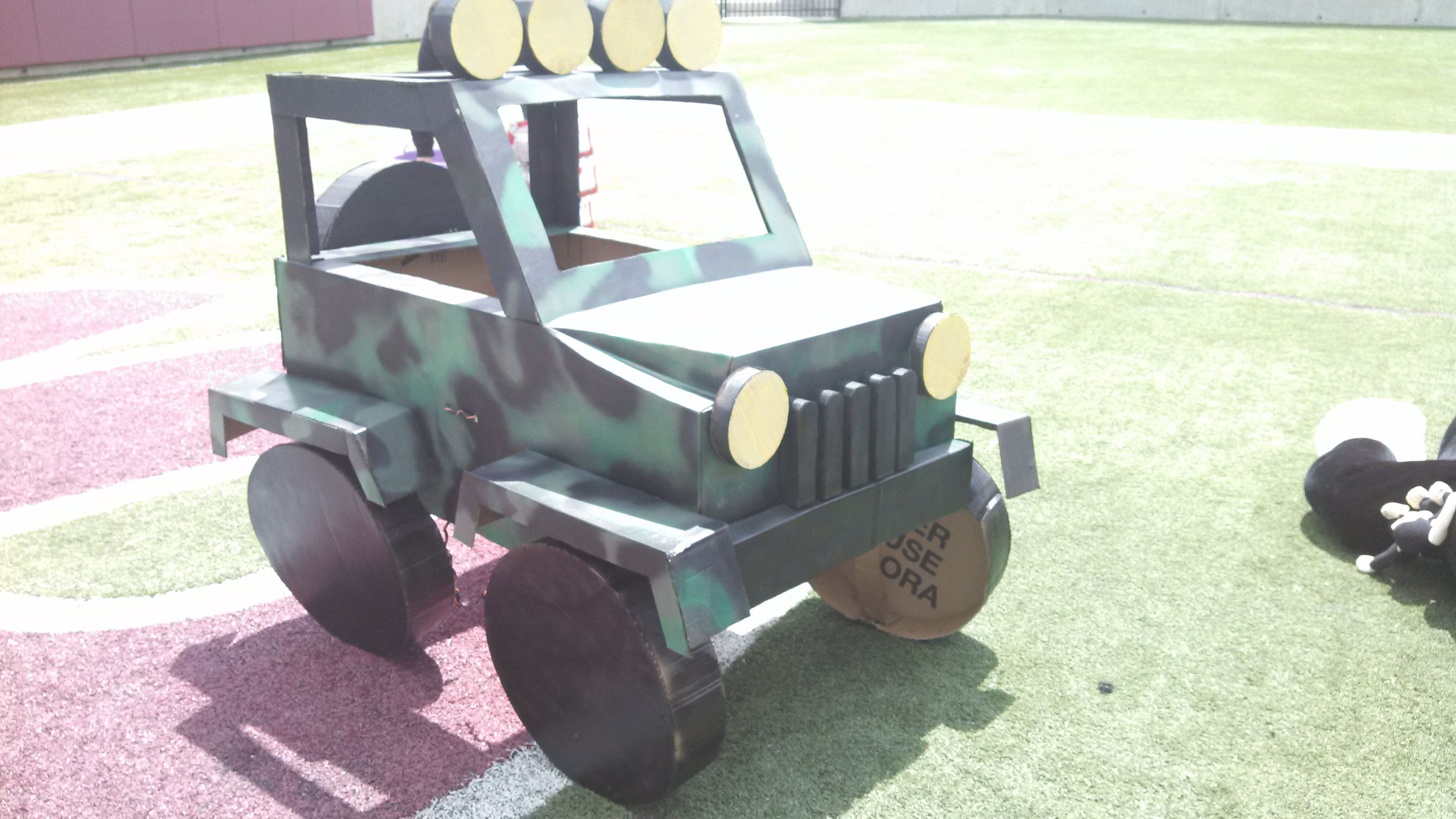 Cardboard Army Jeep Made For Relay For Life Quot Road To