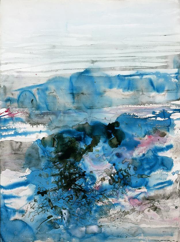 Zao Wou Ki Zhao Wuji Lot Sotheby S Zao Wou Ki Abstrait