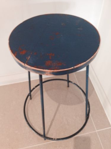 Enjoyable Vintage Industrial Retro Metal Stool Bedside Table Stand Gmtry Best Dining Table And Chair Ideas Images Gmtryco