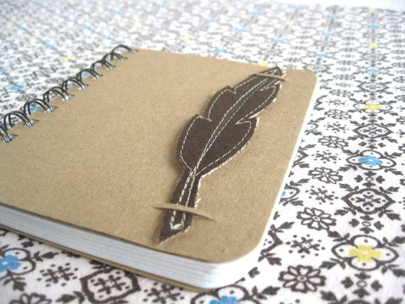 Nature Inspired Sketchbook Brown Feather Bookmark by thenaturewalk, $17.00