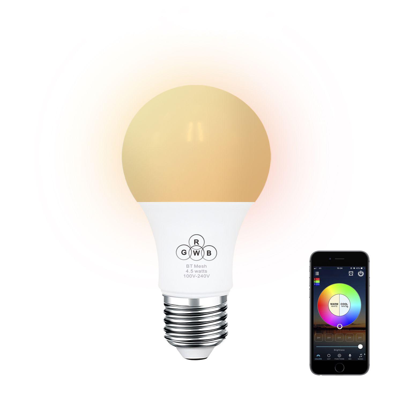 Us 9 39 E27 4 5w Rgbw 350lm Sync Control Dimmable Bluetooth Mesh Smart Led Light Bulb Ac100 264v Rgbw Sync Control D Light Bulb Led Light Bulb Led Lights