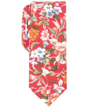 0fd7de053bfe Bar Iii Men's Lassen Floral Skinny Tie, Created for Macy's - Red ...