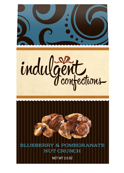 $7.75 Each  An eclectic mix of crisp, oven-baked almonds, cashews and pistachios, graced with the sweetness of blueberry and pomegranate. Just the right mix of sweet and salty to satisfy any craving.