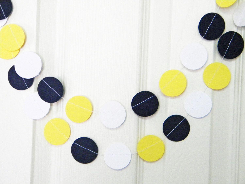 Wedding Nautical Theme Yellow Navy Blue White Party Decoration Paper ...
