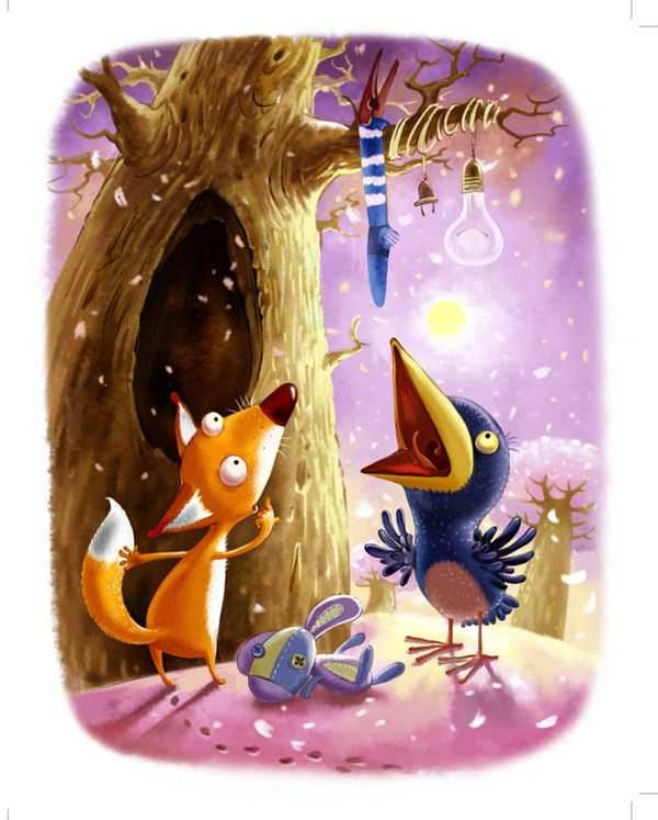 The story about a little fox on Illustration Served
