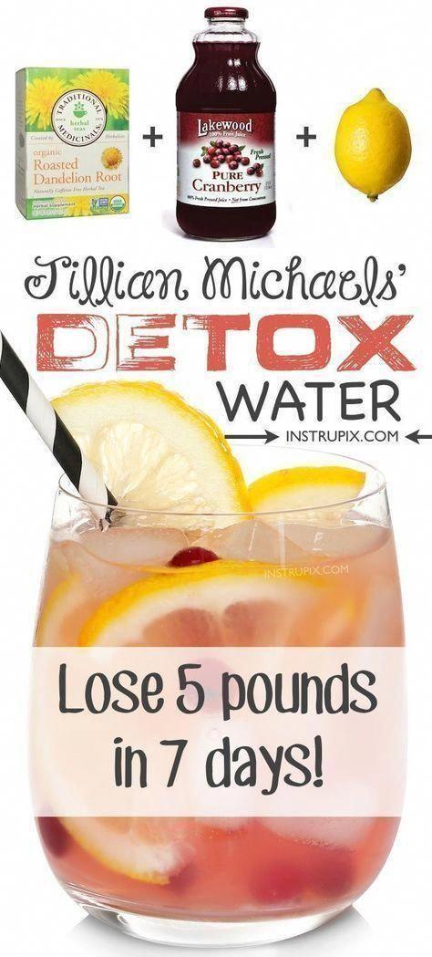 #fitness #health JIllian Michaels detox water to feel better in 7 days. #detox #KetoDietPlanForFatLo...