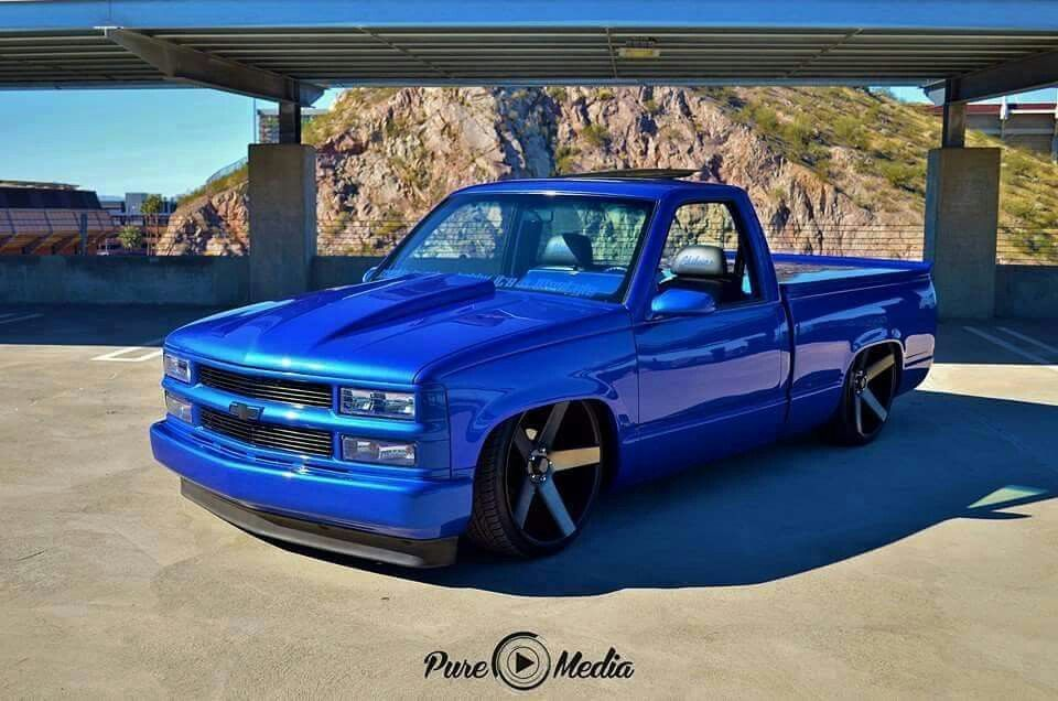 chevy truck blue dropped, bagged. | Chevy trucks ...