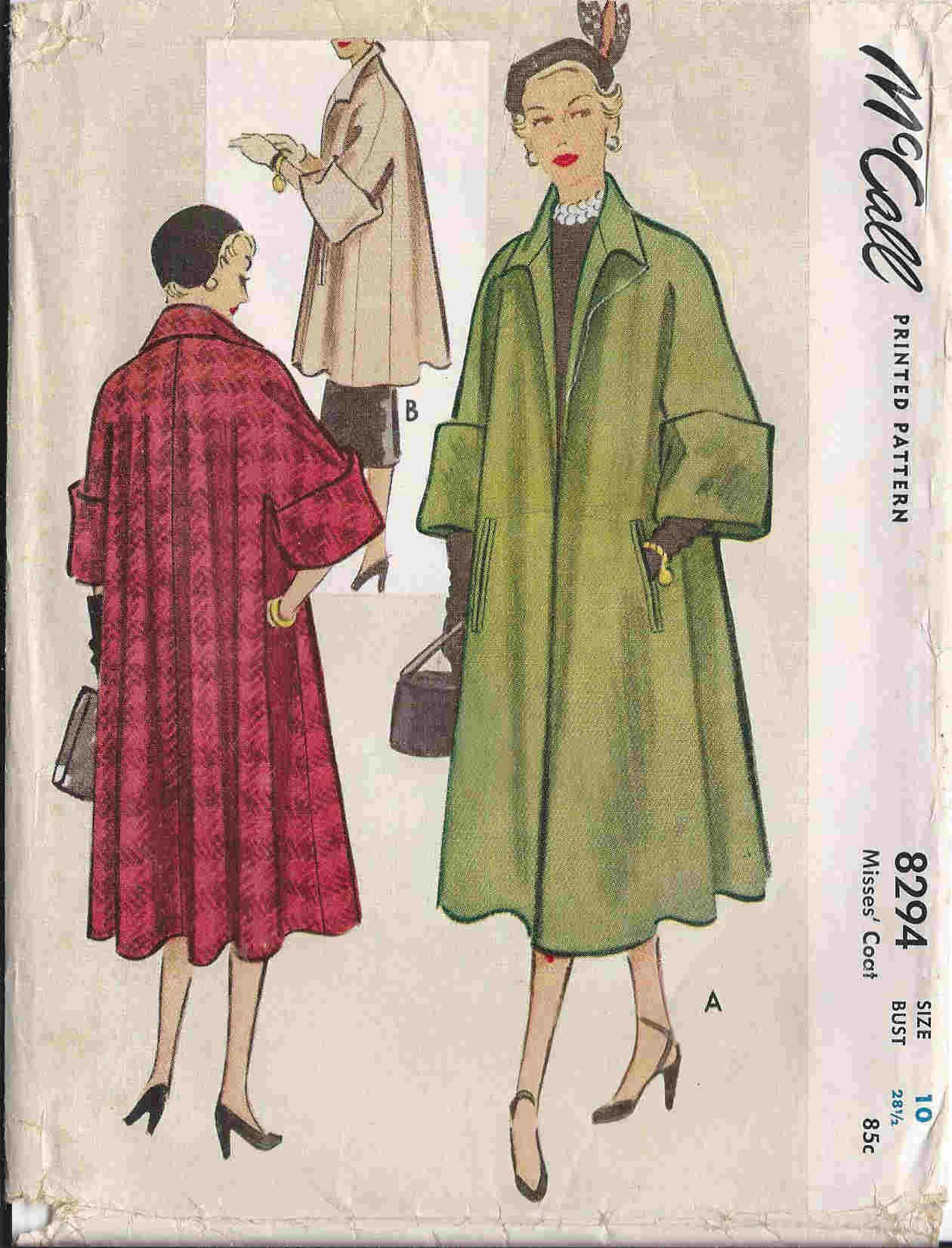 1950s short cape patterns | DellaJane Outerwear Patterns: Coats ...
