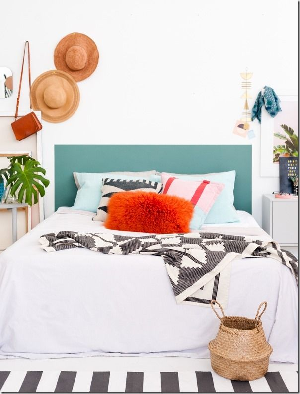 interior design, diy A CLEVER DIY HEADBOARD IDEA THAT