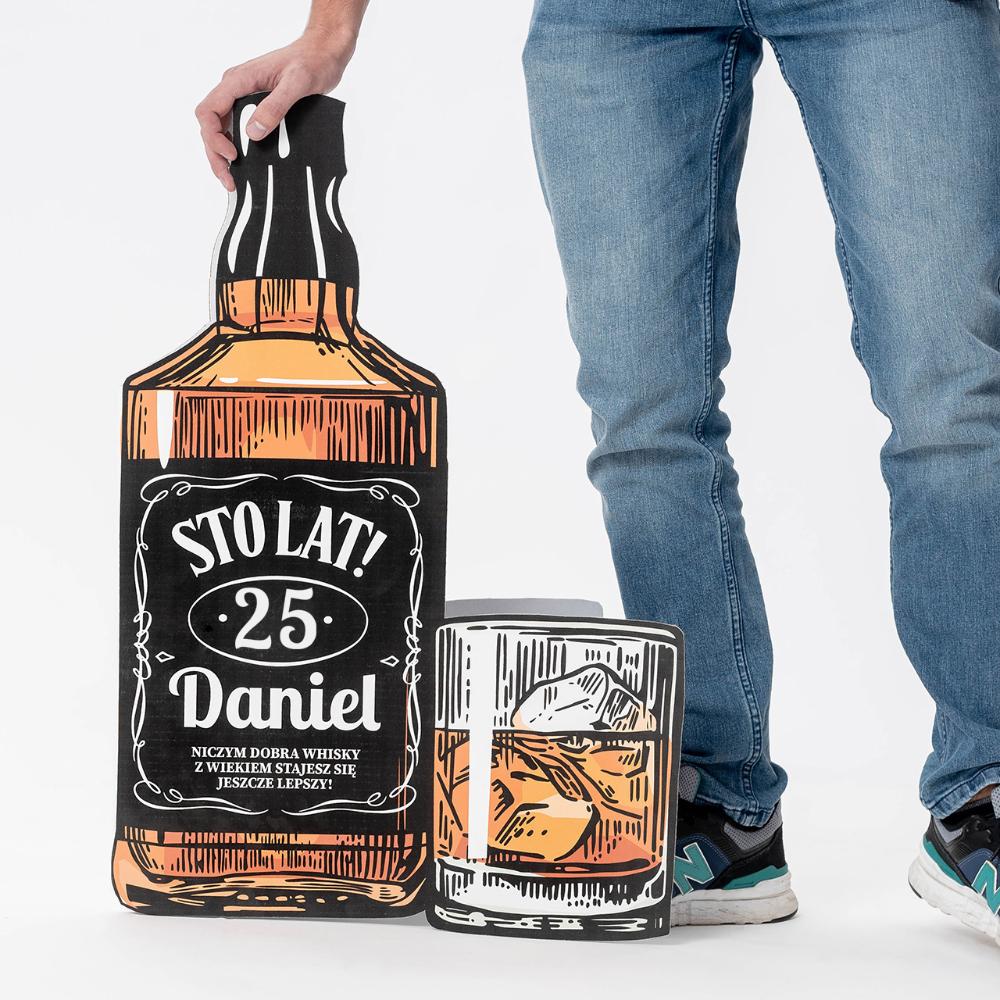 Duza Kartka Urodzinowa Prezent Dla Konesera Whisky Whisky Jack Daniels Whiskey Bottle Whiskey Bottle