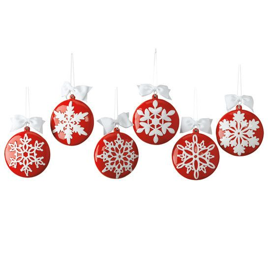 Snowflakes Ceramic Ornaments Christmas Gift Decorations Ceramic Ornaments Holiday Decor Christmas