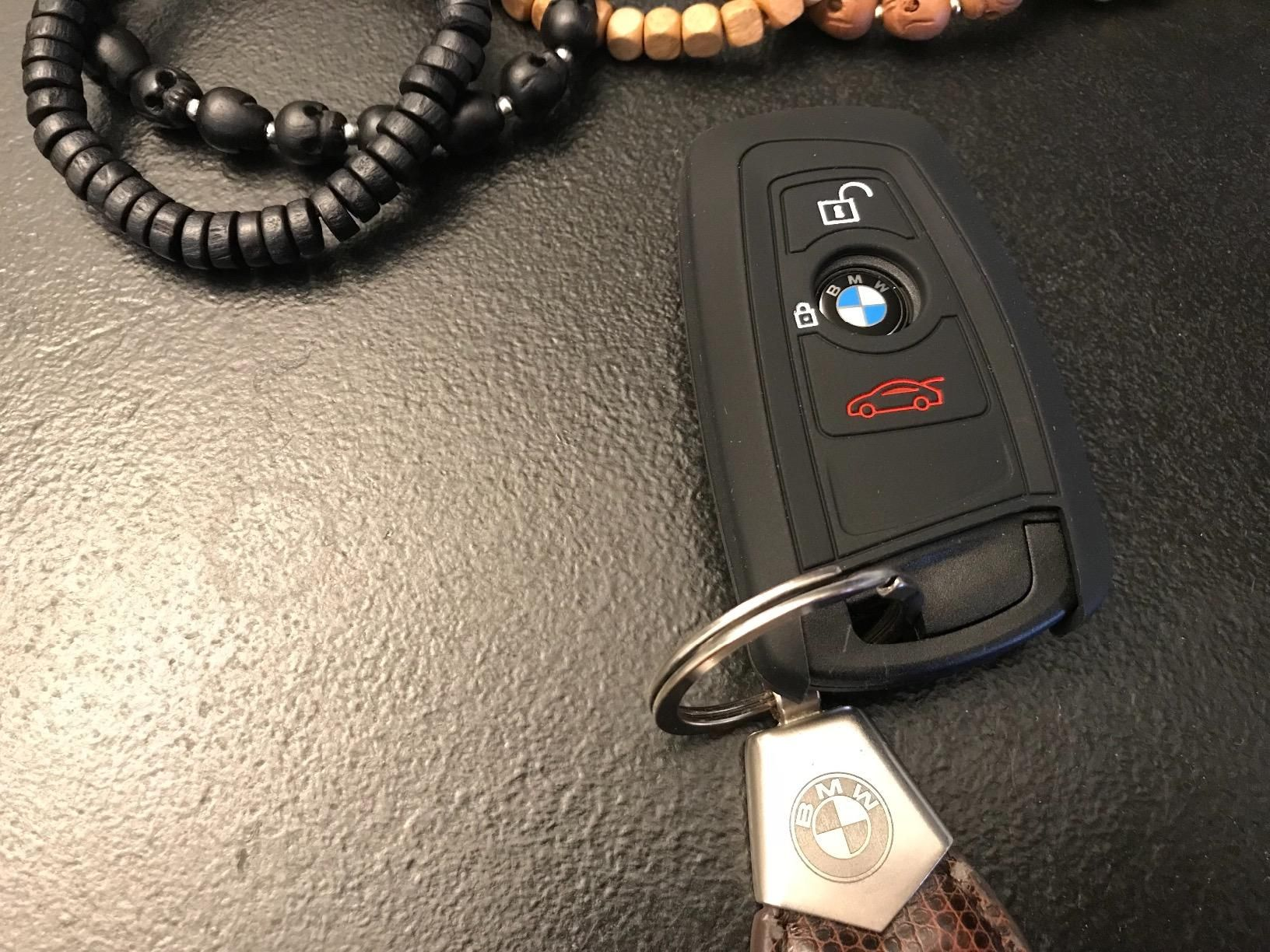 Orange Silicone Key Fob Cover for BMW 7 Series most models