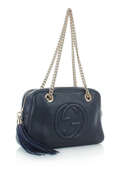 09bdd9cfe Gucci Soho Leather Chain Shoulder Bag, navy | About the bag i 2019
