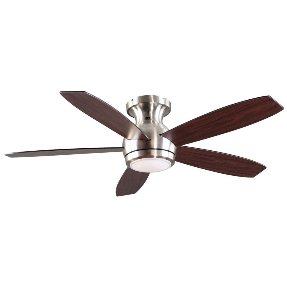 GE Treviso 52 in. Brushed Nickel Indoor LED Ceiling Fan with Remote ...