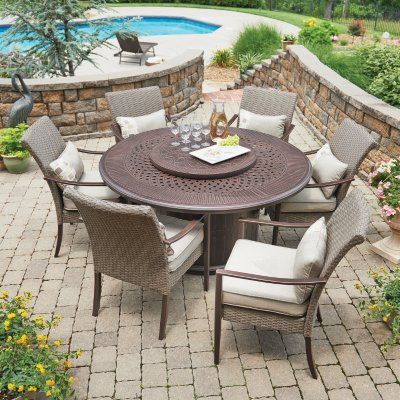 Sam S Club Fire Pit Dining Set Outdoor Dining Furniture