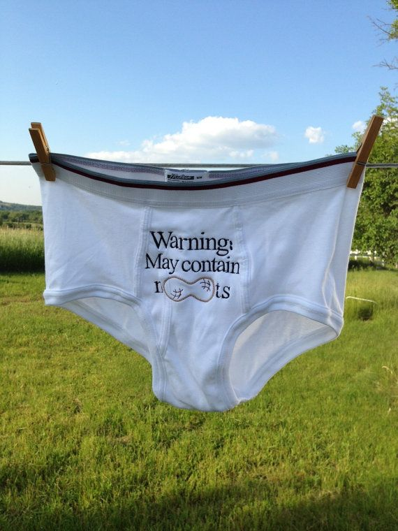 7be87c58dbe Tighty Whitey Funny Gag Gift Nut Allergy Mens by MommyFrouFrou