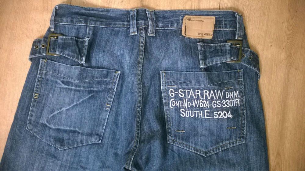 Men s G-STAR RAW DNM SOUTH E Blue Jeans Size 34 Fastening Zip Vintage