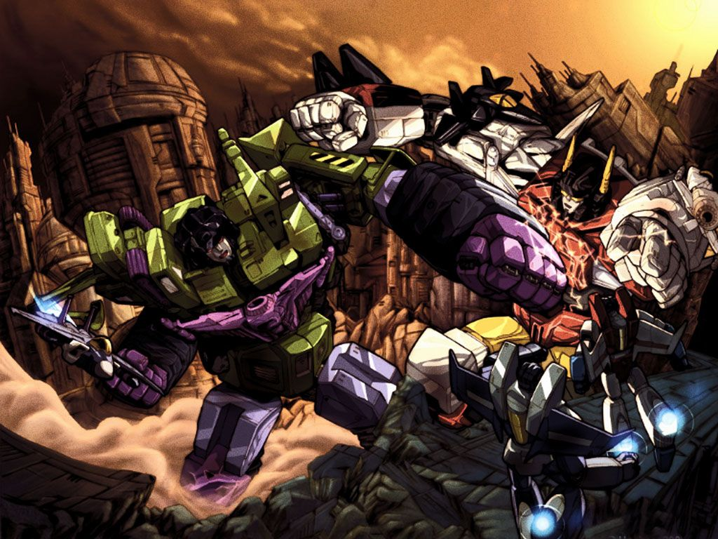 Transformers G1 combiners Bruticus and Predaking art prints A3 size