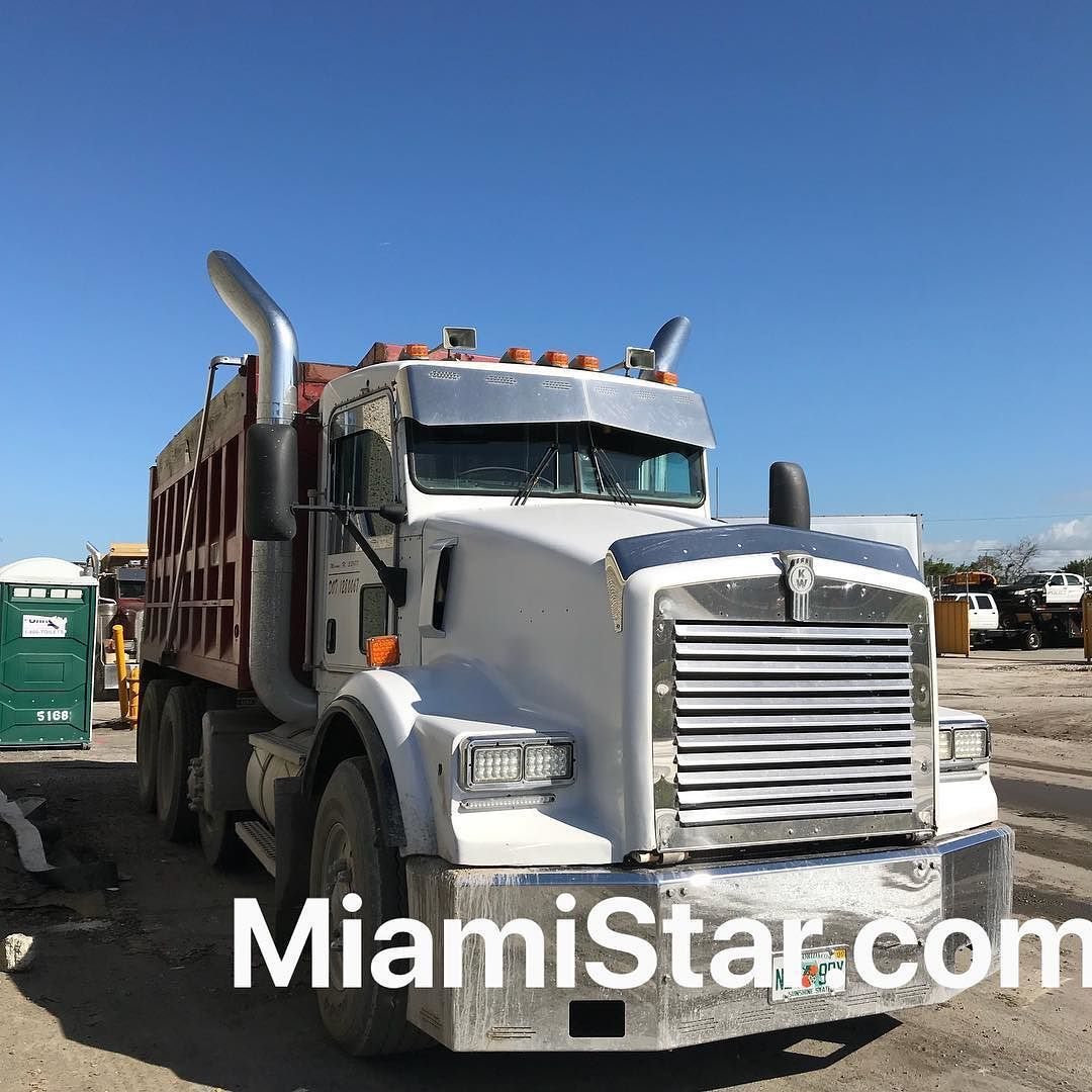 worktruck dumptruck 20 chrome bumper usastar heavydutytrucks rig kenworth t800 custom semitruck usa miami miamistar customer truckparts  [ 1080 x 1080 Pixel ]