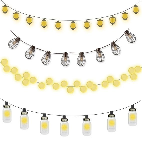 4 Clipart Lantern Strings Commercial Use OK By JhCollaborative