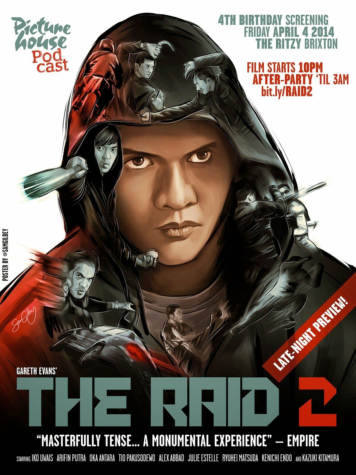 Cool Art The Raid 2 By Sam Gilbey The Raid 2 Movie Posters Best Movie Posters