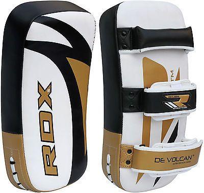 PRO Leather Muay Thai STRIKE Kick PADS Boxing Shield Arm Punch MMA  Focus Pad
