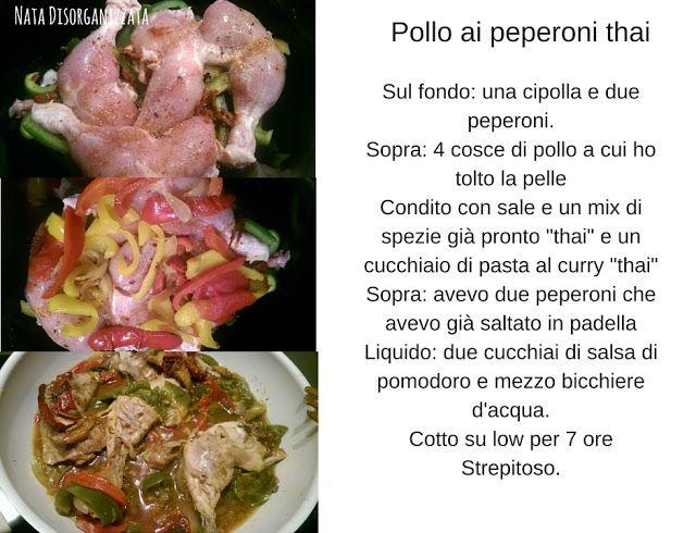 Cucinare piano...cucinare sano: Pollo ai peperoni thai, ricetta Slowcooker