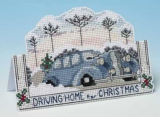 Driving Home For Christmas 3D Cross Stitch Kit £9.25   Past Impressions   The Nutmeg Company