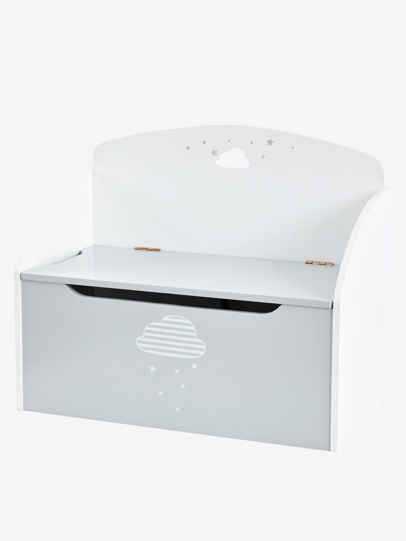 Banc Coffre De Rangement Nuage Gris Blanc Vertbaudet Banc Coffre De Rangement Coffre De Rangement Banc Coffre