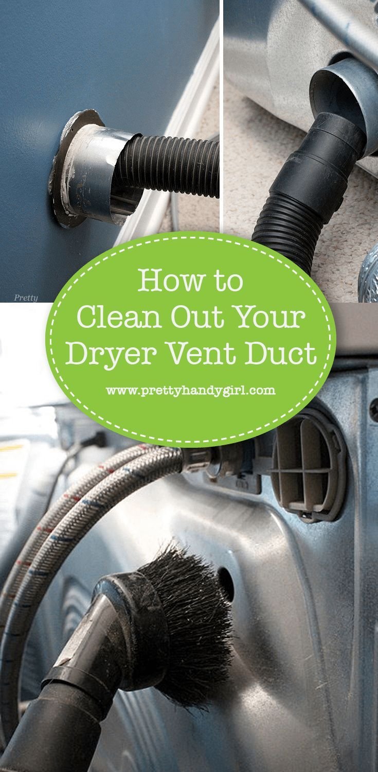 Clean out your dryer vent duct in 2020 Dryer vent, Clean