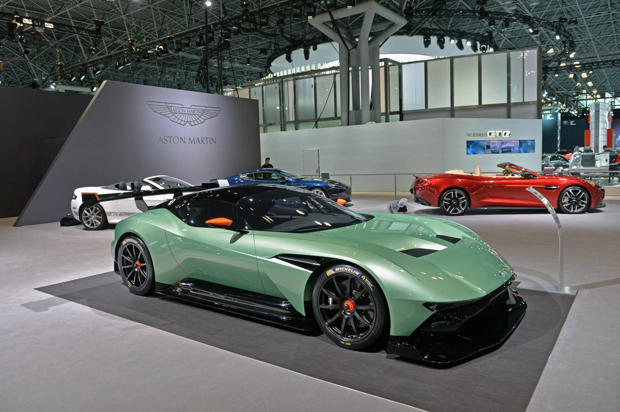 aston martin is currently showcasing a phenomenal range of cars at