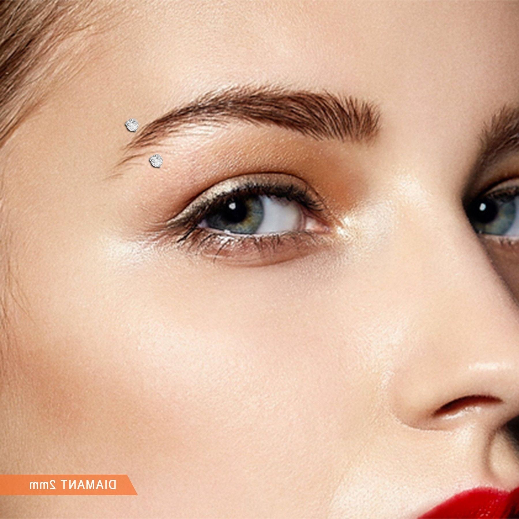 Diamond Stud Eyebrow Ring Ring In 2018 Pinterest Piercings