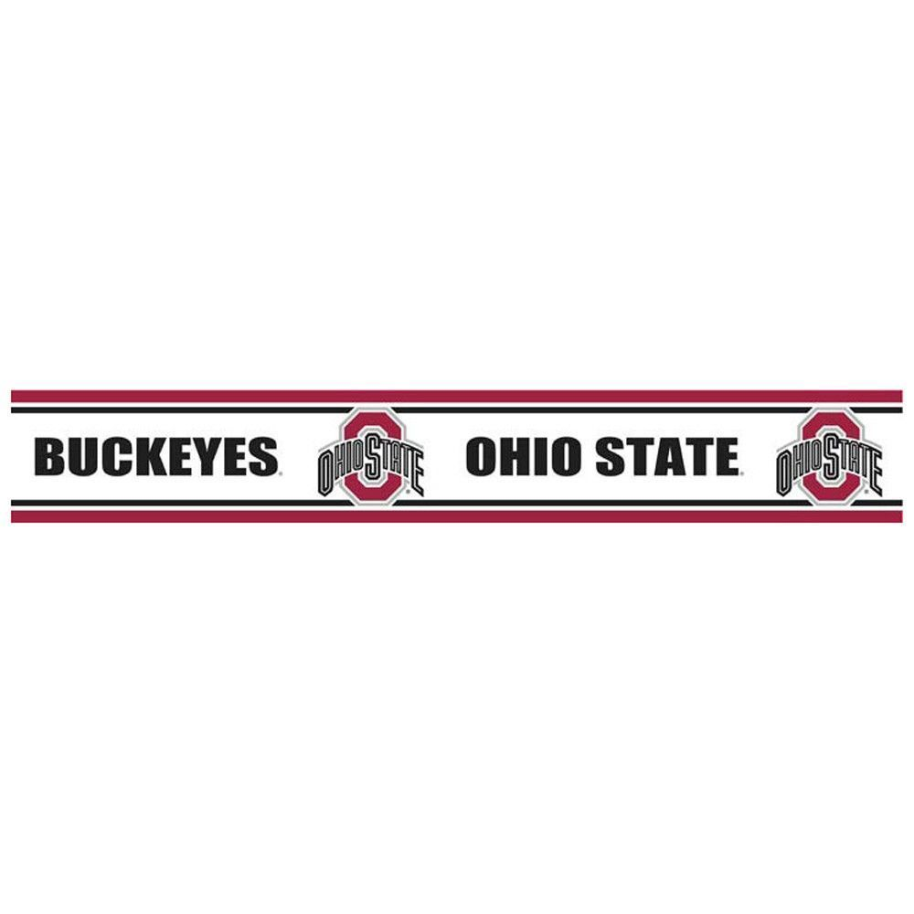 Ohio State Buckeyes Pre Pasted Wallpaper Border Products