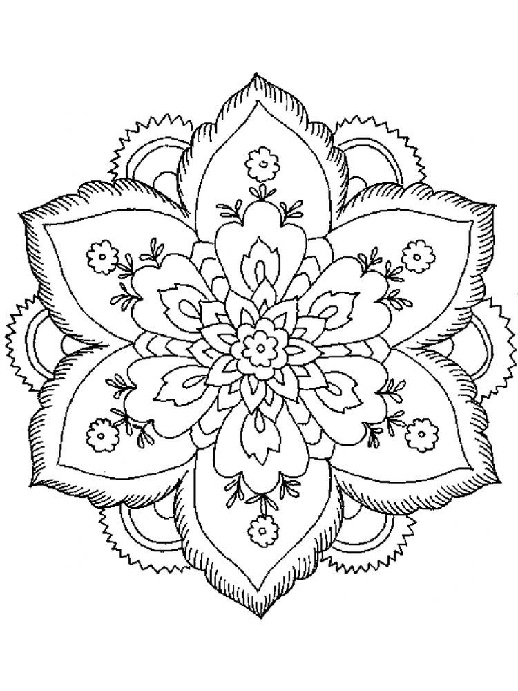 Simple Coloring Pages For Adults