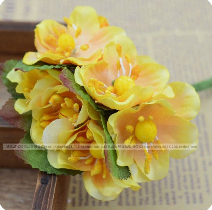 Aliexpress buy 72pcslot artificial silk flower diy craft aliexpress buy 72pcslot artificial silk flower diy craft accessory wedding decoration fake flower party supply free shipping from reliable junglespirit Choice Image