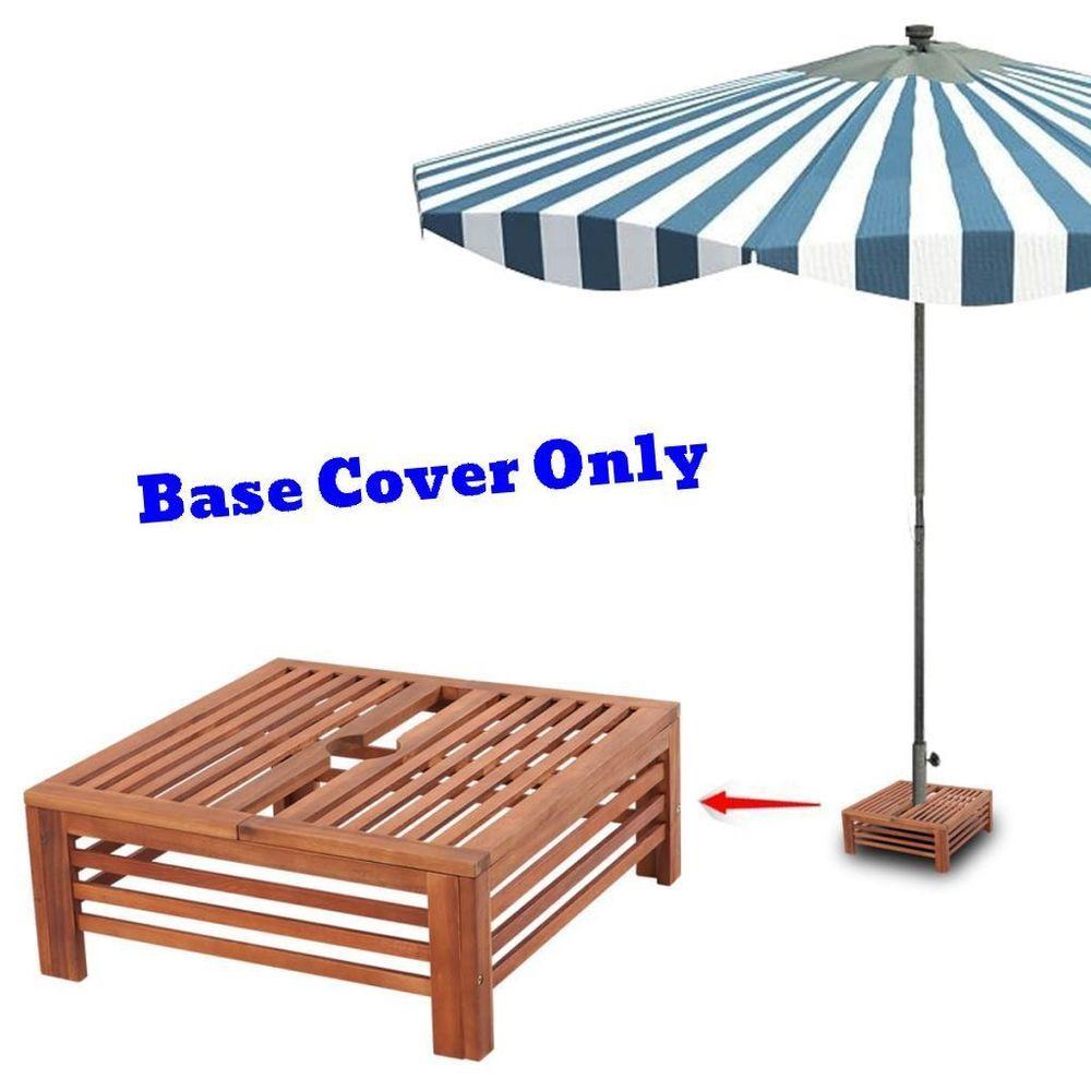 Parasol Base Cover Patio Wood Side Coffee Table Stand Umbrella Hide Pool Decor Patio Umbrella Stand Diy Pergola Pergola